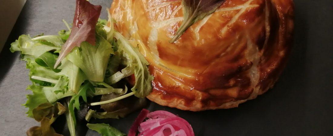 Chausson volaille Foie gras pate feuillette
